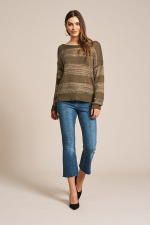 Eb & Ive - Coco Lurex Knit - Moss