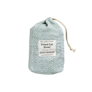 Eddy & Moss - Fitted Cot Sheet - Speckles Sea Foam