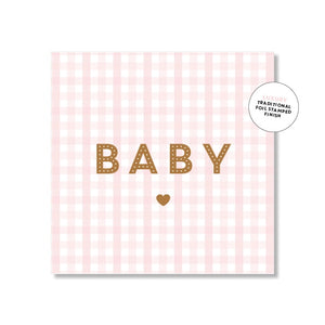 Just Smitten Mini Gift Card - Baby Pink Gingham
