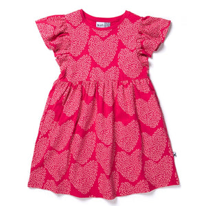 Minti - I Heart Hearts Dress - Raspberry