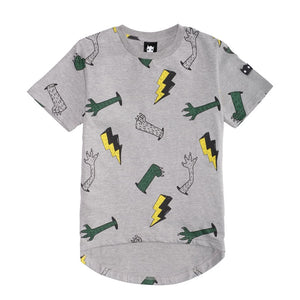 Band of Boys - SS Tee Monster Yardage - Marle Grey