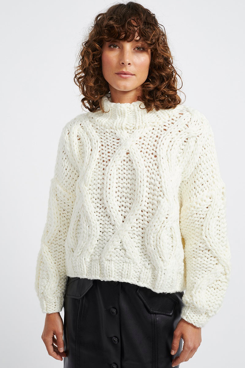Staple - Anita Cable Knit Jumper - Off White