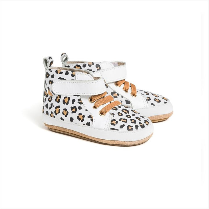 Pretty Brave - Hi Top - White Leopard
