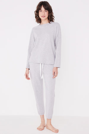 Assembly Label - Kin Fleece Trackpant - Grey Marle