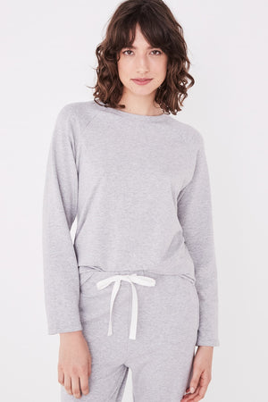 Assembly Label - Kin Fleece Top - Grey Marle