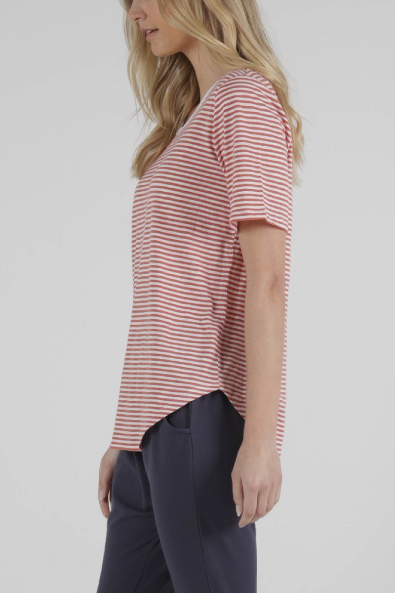 Betty Basics - Ariana Tee - Tangello Stripe