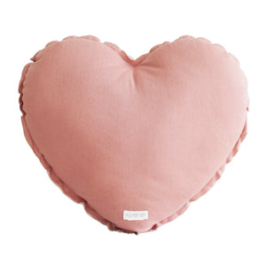 Alimrose Heart Cushion in Blush & Rose Garden