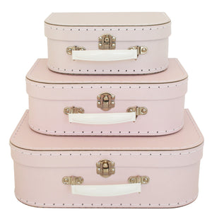 Alimrose Kids Suitcase Set in Pale Pink