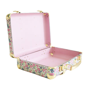 Alimrose Mini Vintage Brief Case in Floral