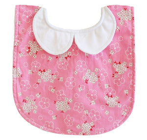 Alimrose Peter Pan Collar Bib in Pink Bouquet