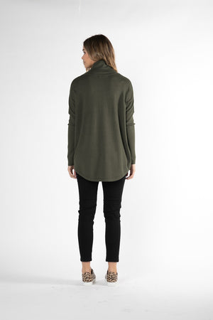Betty Basics - Fleur Knit Jumper - Olive
