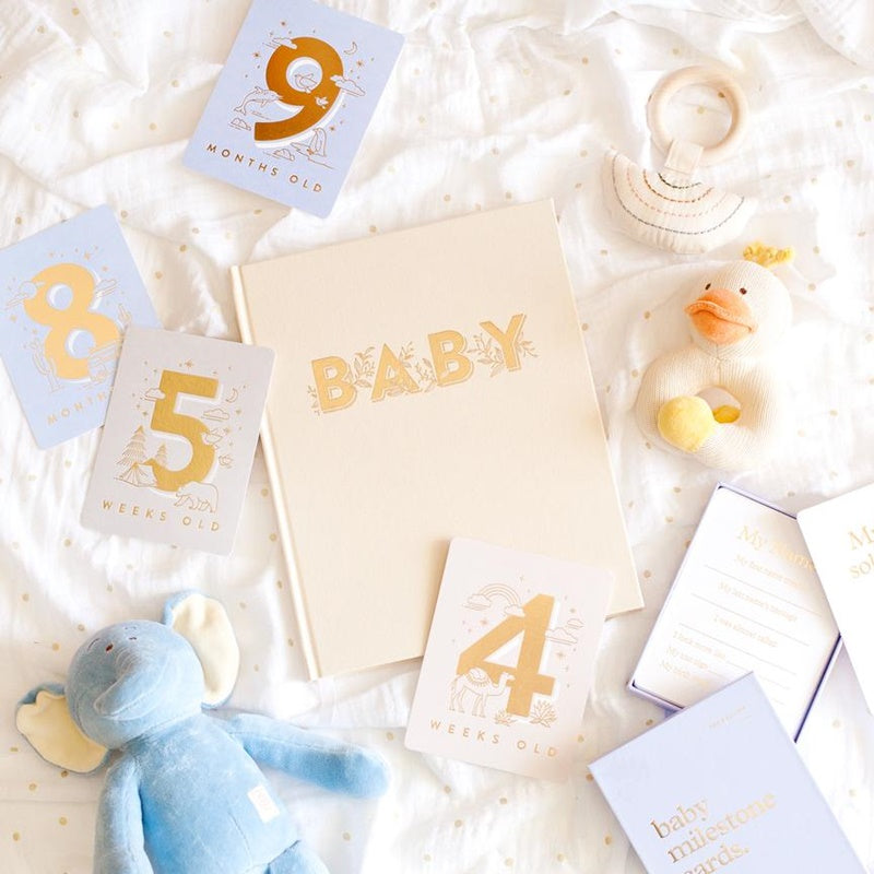 Fox & Fallow - Baby Milestone Card Set - Cream