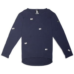Band of Boys - Long Sleeve Tee Eyes in the Dark - Navy