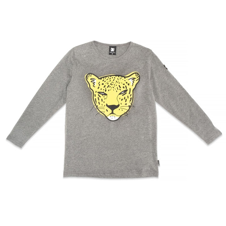 Band of Boys Long Sleeve Tee Leopard in Marle Grey