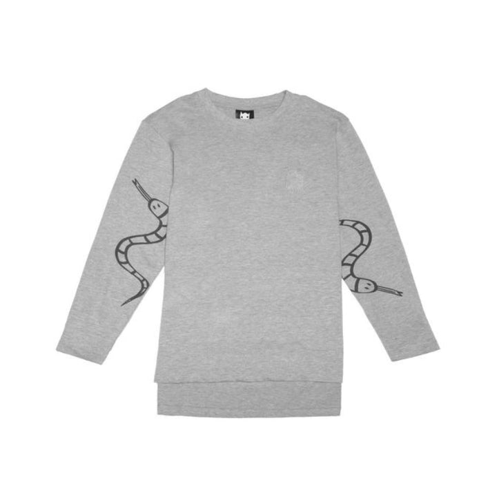 Band of Boys Organic Kids LS Tee Snakes in Marle Grey