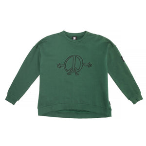 Band of Boys Jumper Oversize Peace Man in Green