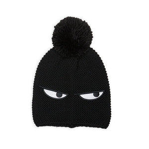 Band of Boys Pom Pom Beanie Sneaky Eyes in Black