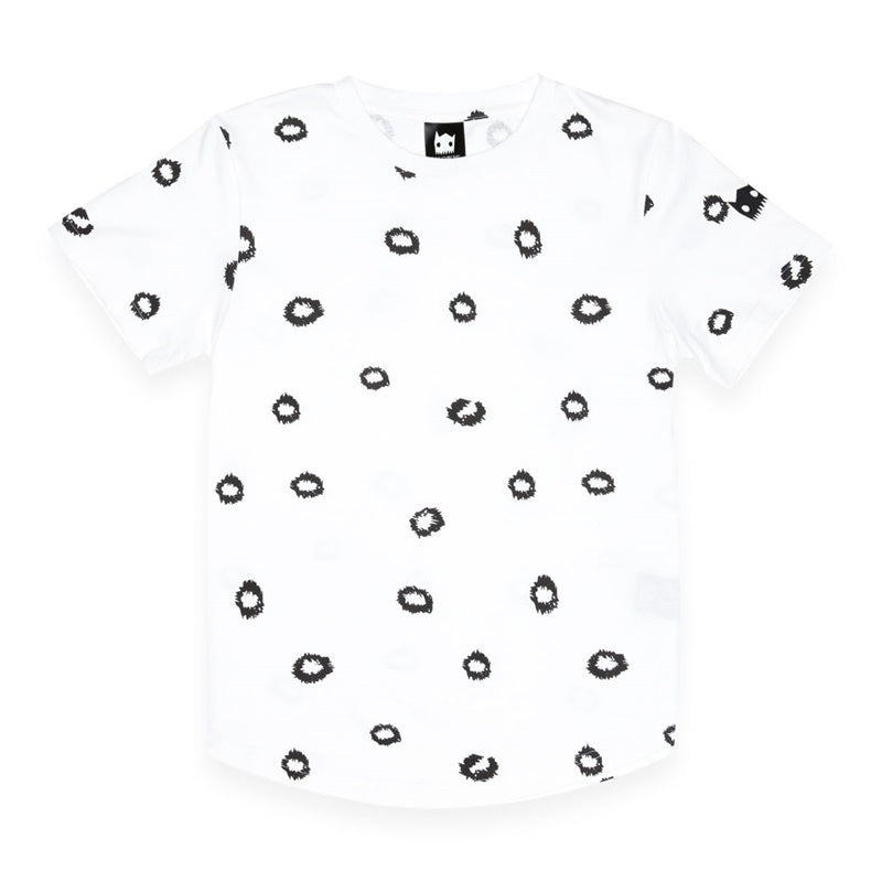 Band of Boys Tee Leopard Spots in White
