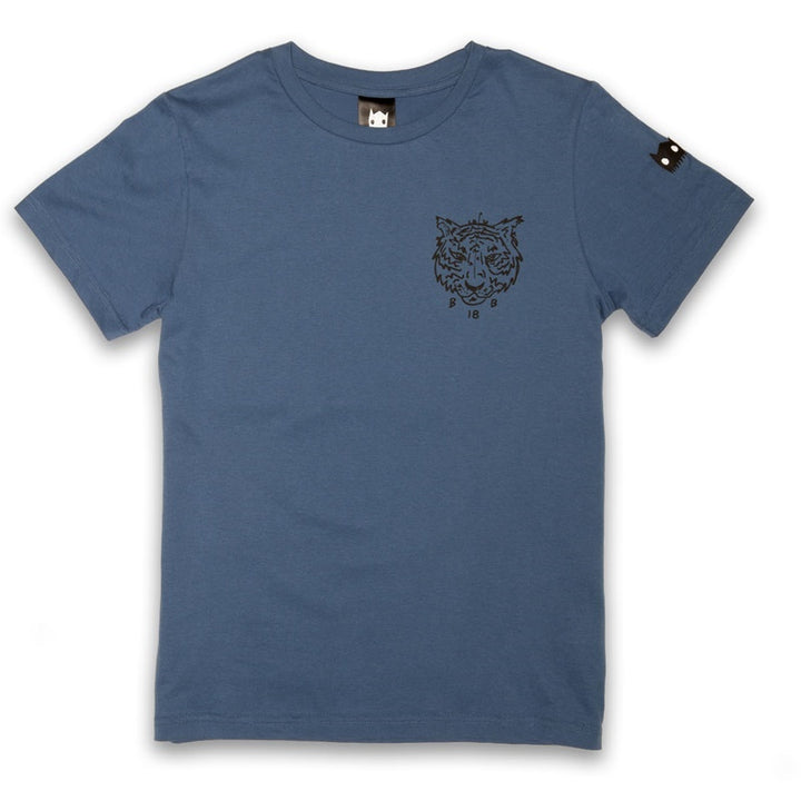 Band of Boys Tee Tiger in Blue Front View