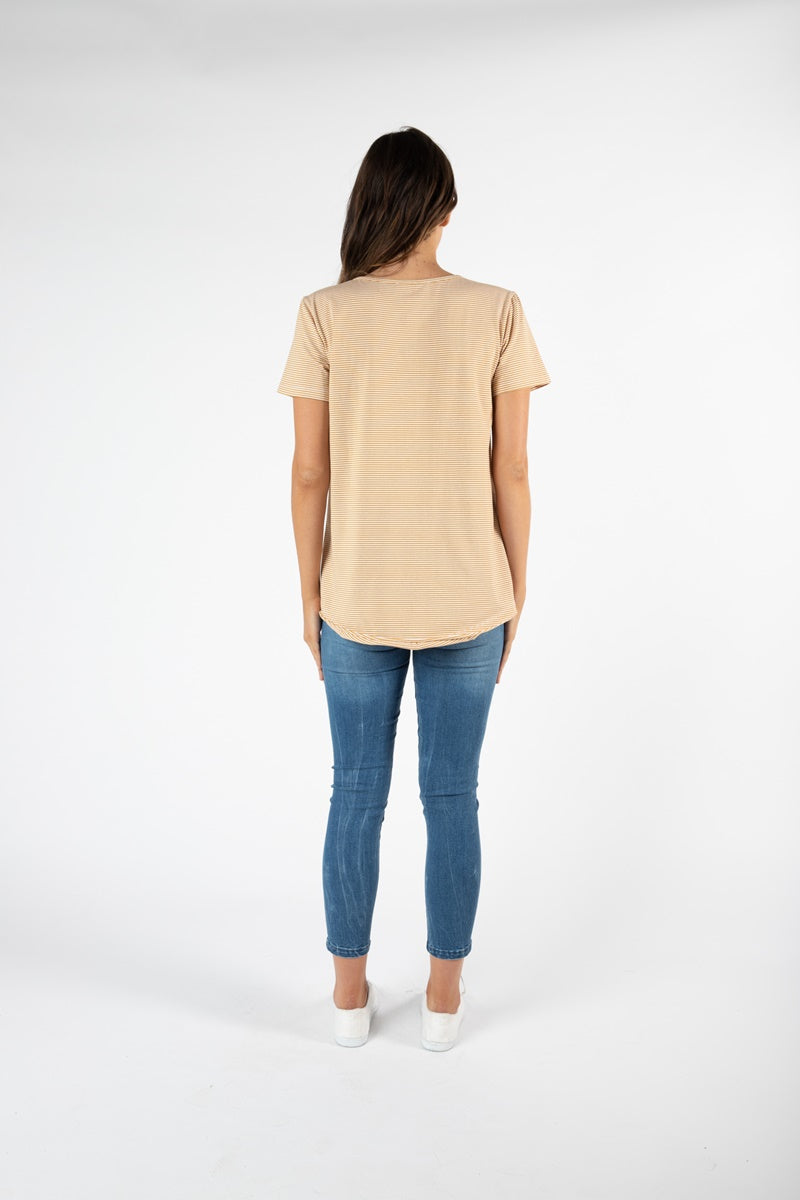 Betty Basics - Denver Tee - Honey Stripe