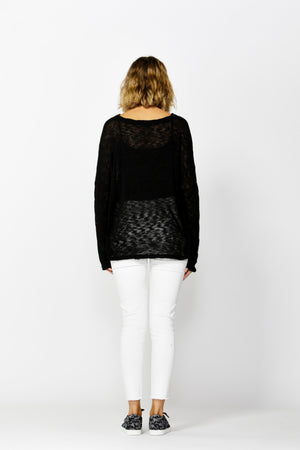 Betty Basics Clio Knit Jumper in Black