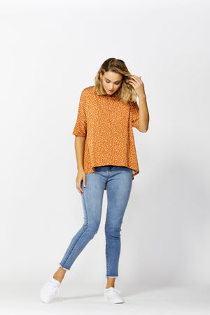 Betty Basics Wellington Tee in Clay Spot Front View