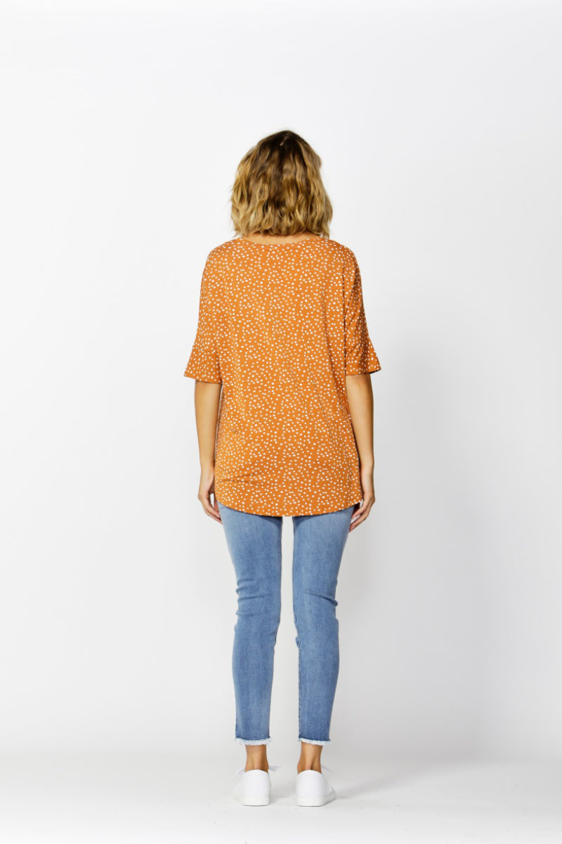 Betty Basics Wellington Tee in Clay Spot Back View