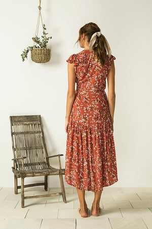 Bird & Kite - Abigale Wrap Dress - Cottage Garden Pomegranite