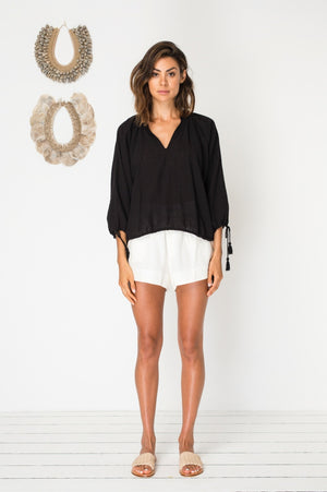 Bird & Kite Ariana Top in Black
