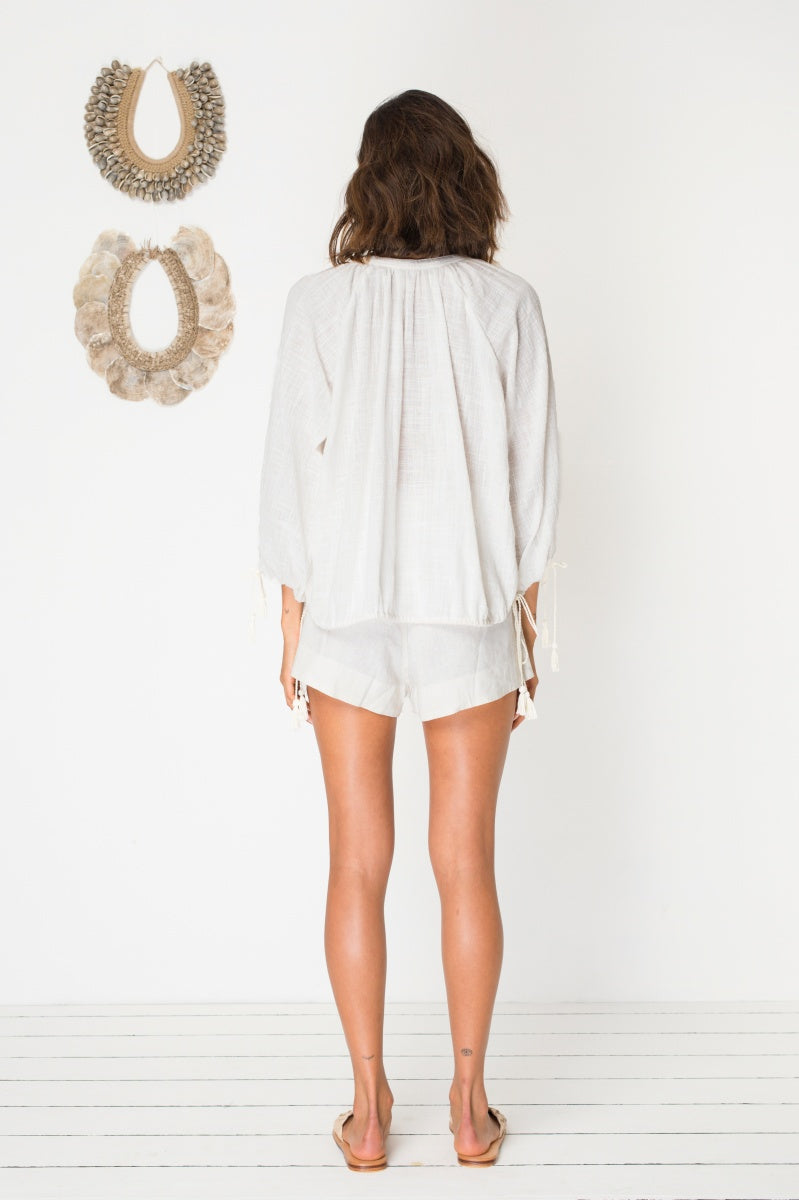 Bird & Kite Ariana Top in Ivory