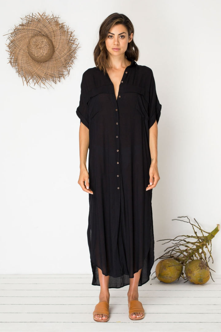 Bird & Kite Cortez Kaftan in Black