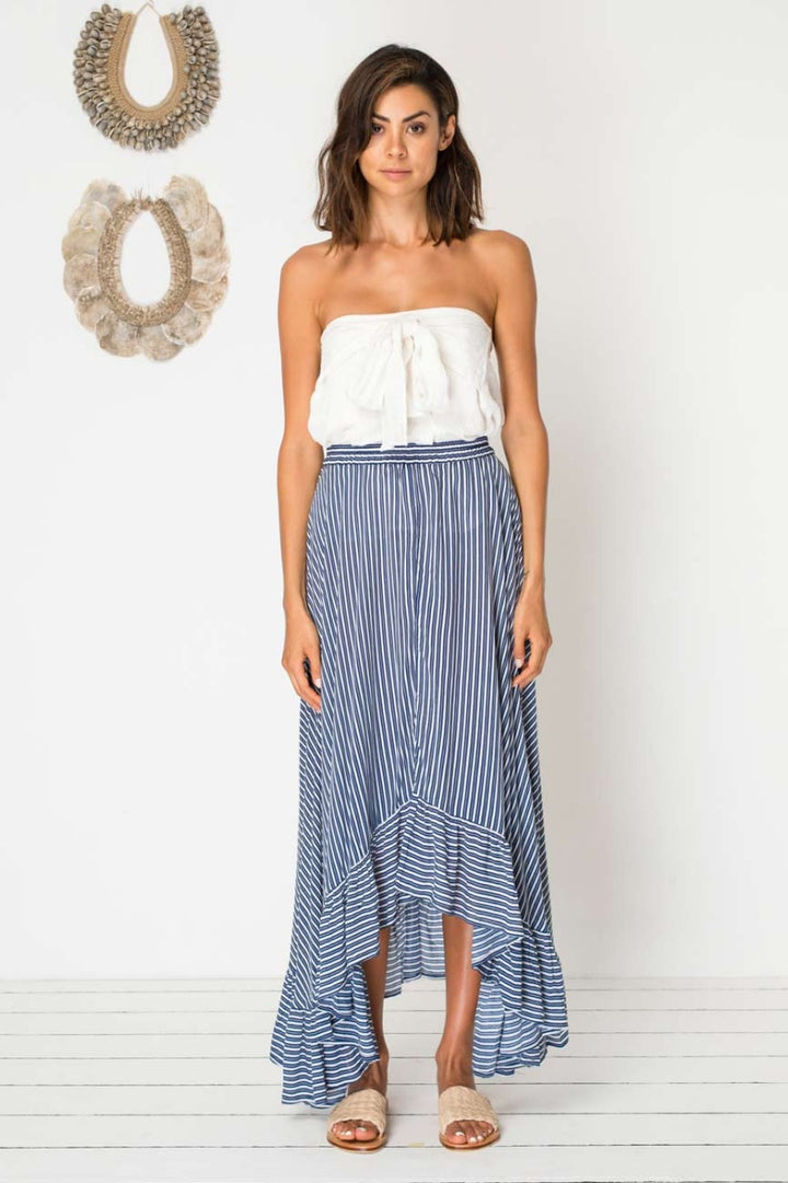 Bird & Kite Seabourne Skirt in Pacific Stripe