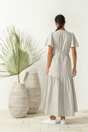 Bird & Kite - Return to Eden Dress - Natural Woven Stripe
