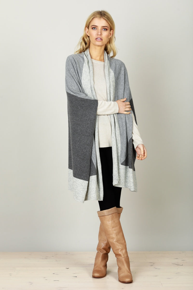 Brave & True Ainsley Cape in Charcoal