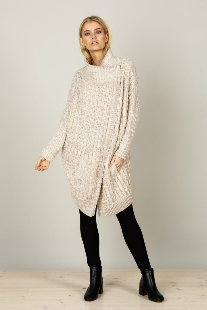 Brave & True Huddle Up Knit Cardi in Oatmeal