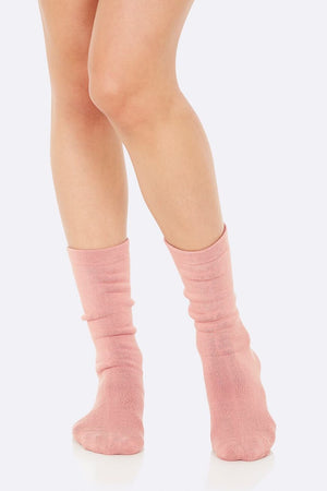 Boody - Womens Chunky Bed Socks - Dusty Pink