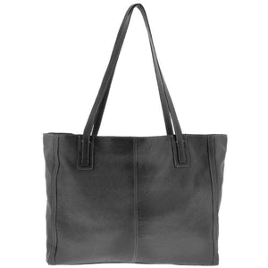 Cobb & Co Clyde Soft Leather Tote in Black