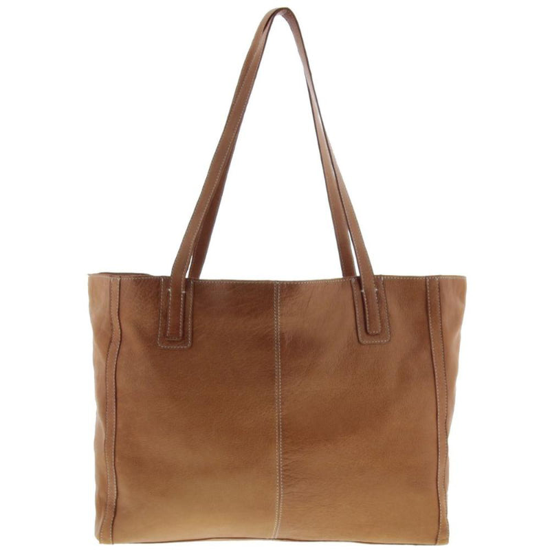 Cobb & Co Clyde Soft Leather Tote in Tan