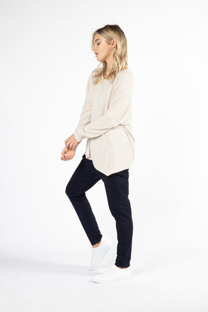 Betty Basics - Darcy Top - Oatmeal