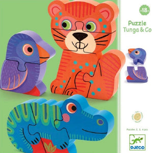Djeco Wooden Puzzle Tunga & Co
