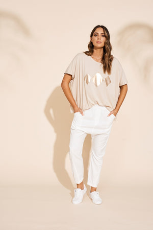 Eb & Ive - Sable T-Shirt - Clay
