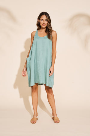 Eb & Ive - Serengeti Tank Dress - Sage