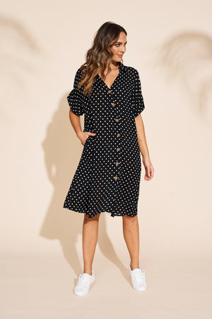 Eb & Ive - Zuma Shirt Dress - Black