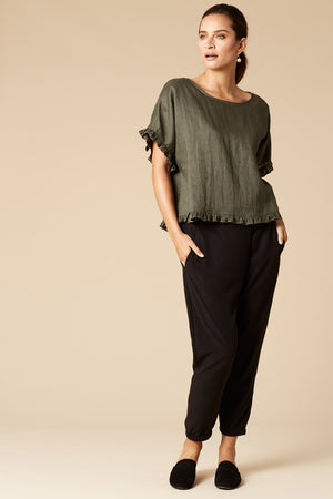 Eb & Ive Korbel Top in Moss