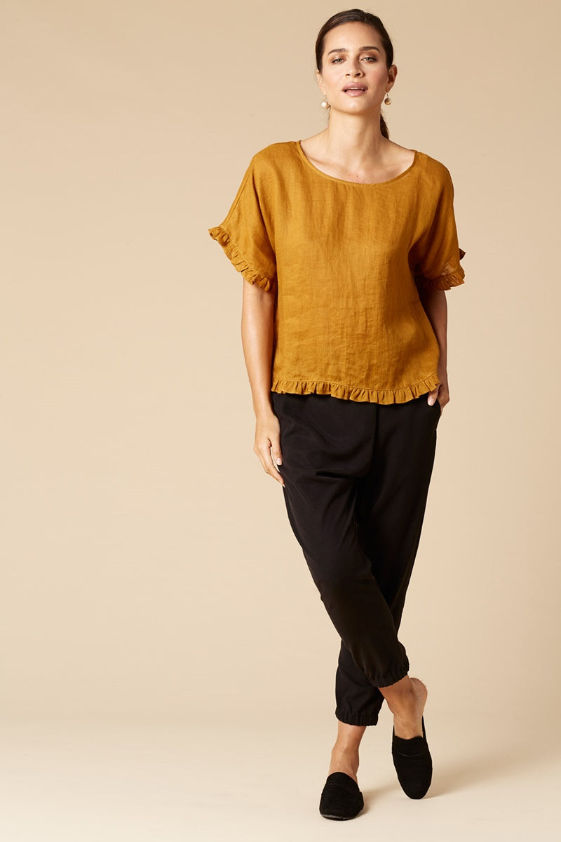 Eb & Ive Korbel Top in Mustard