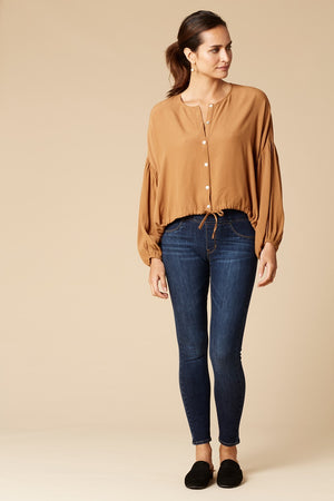 Eb & Ive Margaux Blouse in Tobacco