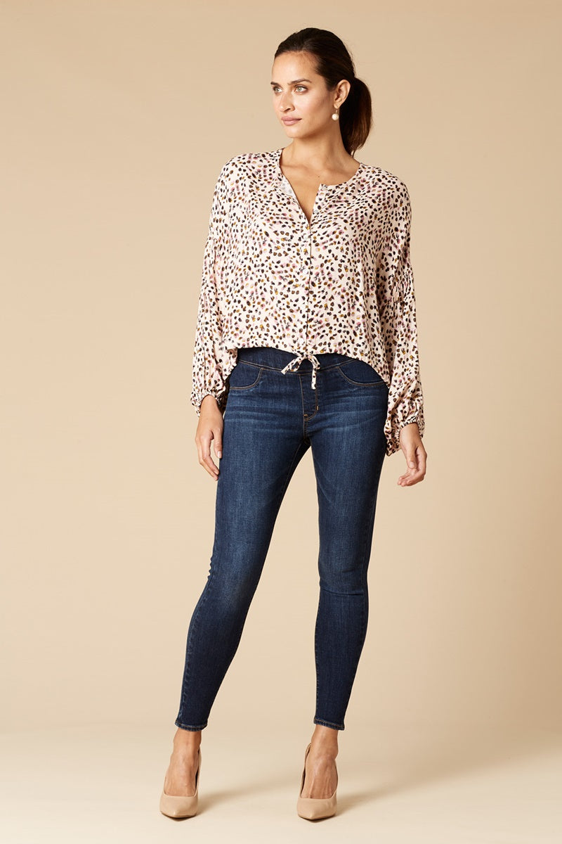 Eb & Ive Margaux Blouse in Vanilla Speck