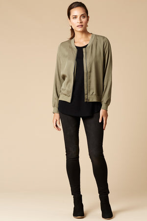 Eb & Ive Mendoza Bomber in Moss