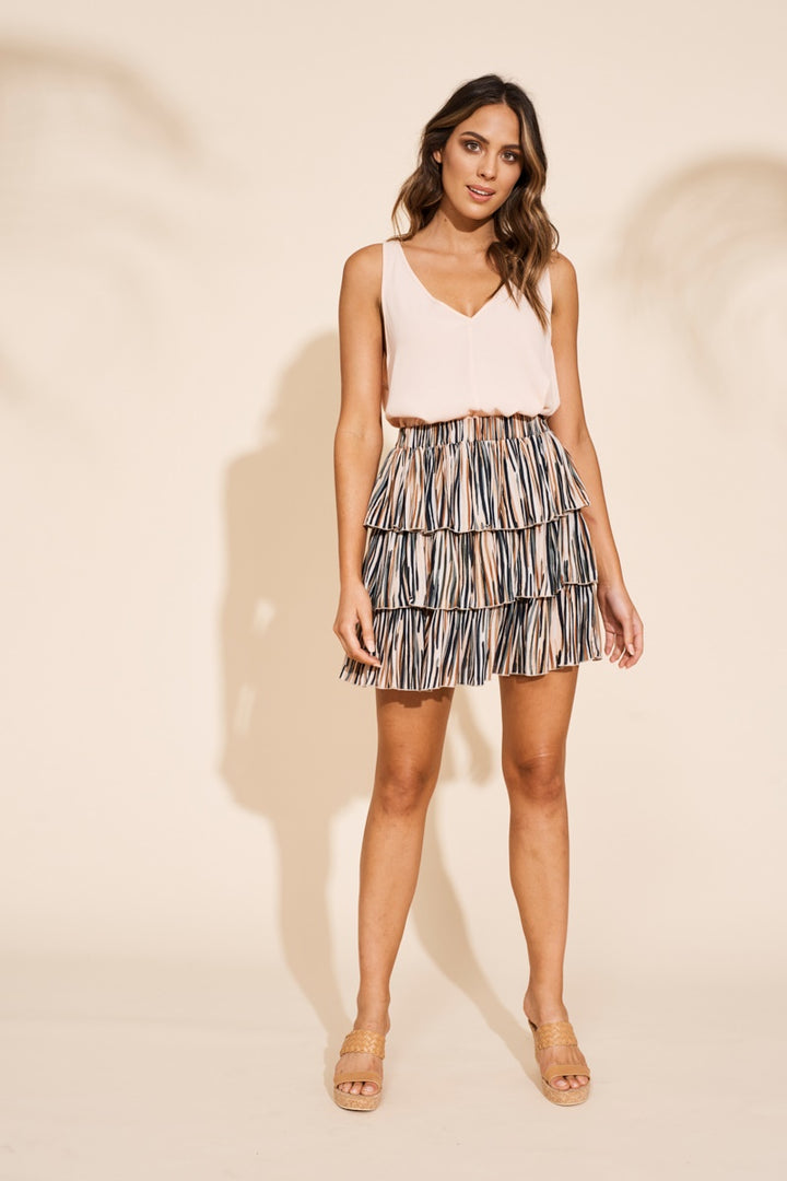 Eb & Ive - Savannah Ra Ra Skirt/Top - Zebra