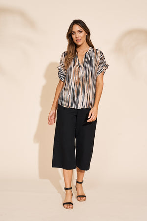 Eb & Ive - Savannah Blouse - Zebra